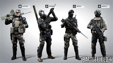 Kemeja Black Squad Japan battlefield 4 class guide support