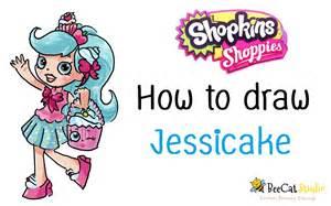 How to draw shopkins shoppies dolls jessicake youtube