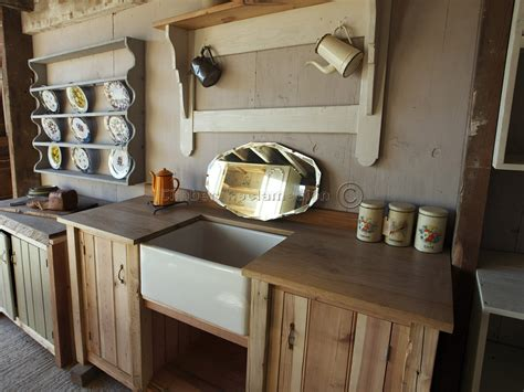 Handmade Kitchen Units - bespoke solid wood kitchen units from reclaimed timber