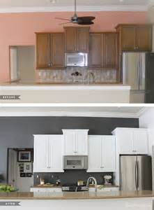 Paint Kitchen Cabinets White Before And After How I Transformed My Kitchen With Paint House Mix