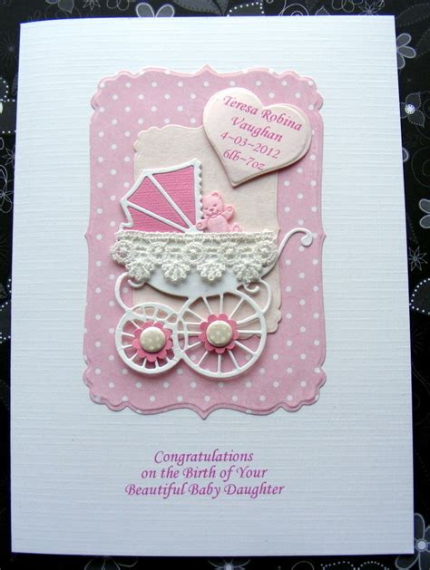 Baby Handmade Cards - personalised new baby card handmade pram with l folksy