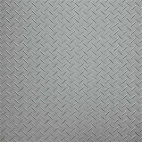 Silver Checker Plate Vinyl Flooring Tiles   £44.90 per