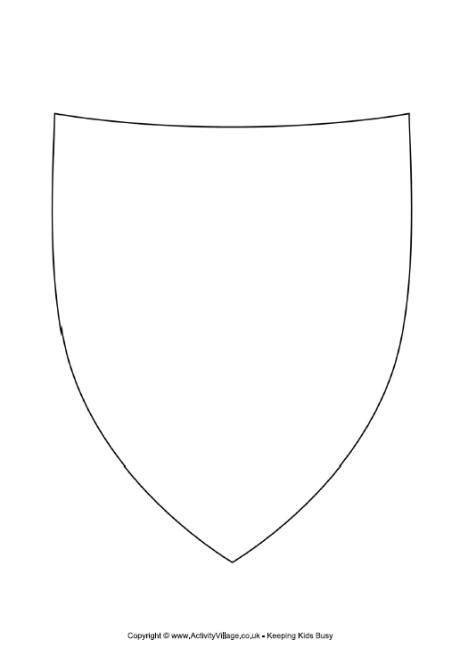 template of knights shield decorate the shield