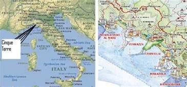 Cinque Terre Italy Map by Cinque Terre Italy Map Images