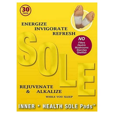 Reset Detox Foot Pads Reviews by Inner Health Sole Pads 30 Detox Foot Pads