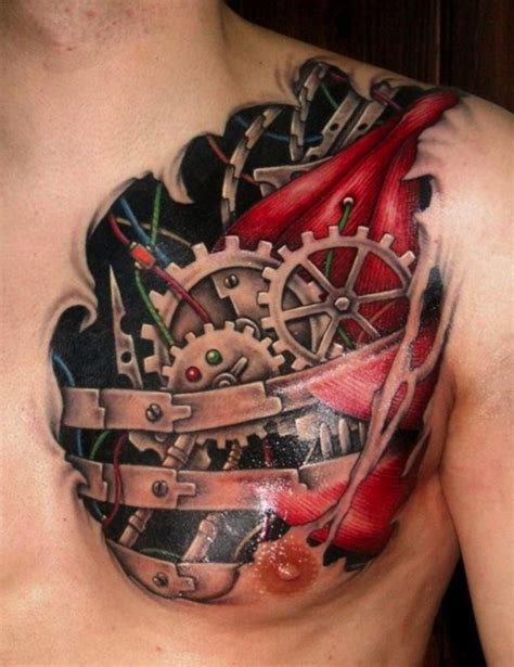 3d mechanical tattoo designs 56 mechanical gear tattoos