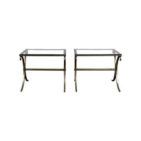 silver and glass end tables buy glass tables quality second furniture