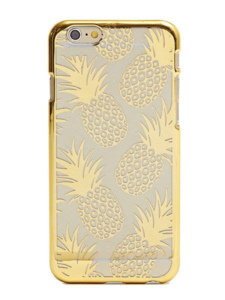 skinny dip london gold pineapple case   iphone  technology iphone  gold iphone
