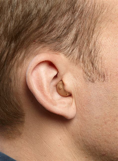 short hair and hearing aids male hairstyle to cover hearing aids custom in the ear
