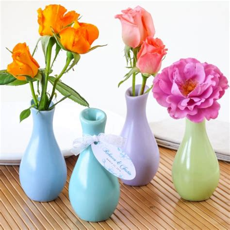 Vase Wedding Favors by Pastel Favor Vases
