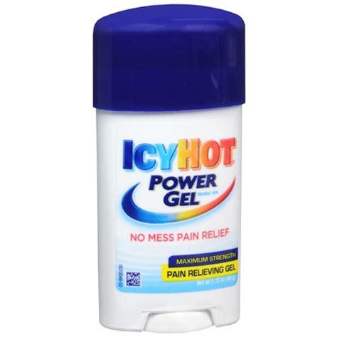 icy hot gel icy hot power gel pain relief 1 75 oz fsastore