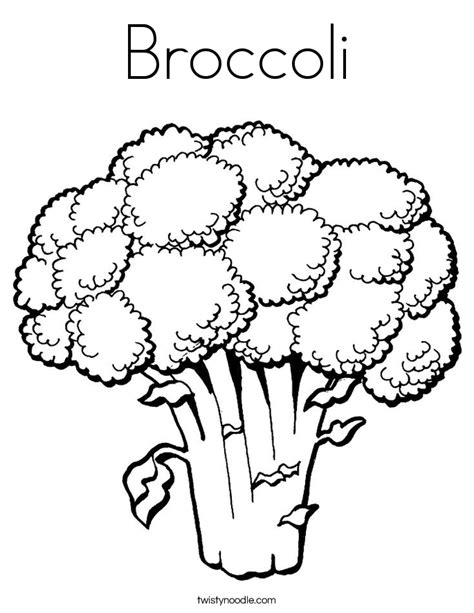 Coloring Pages Twisty Noodle Broccoli Coloring Page Twisty Noodle by Coloring Pages Twisty Noodle