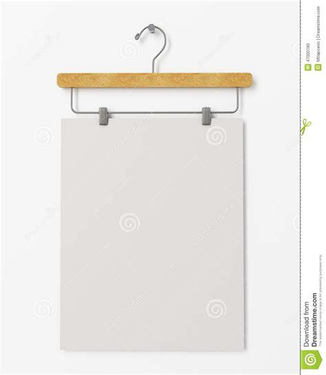design poster hanger mock up blank poster on clothes hanger hanging on the
