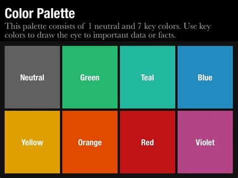 Make Better Presentations In Less Time With This Color Palette Slide Template From Slidevana Powerpoint Template Color Scheme