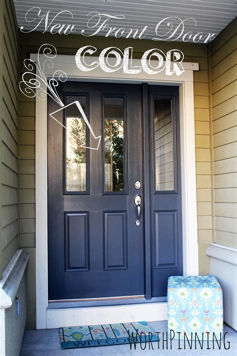 Blue Front Door Paint Worth Pinning Gray Door Or Teal Door How About Both