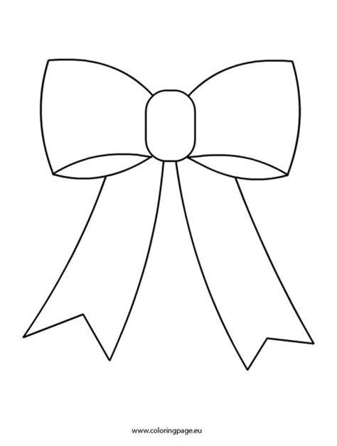 ribbon bow coloring page christmas coloring page