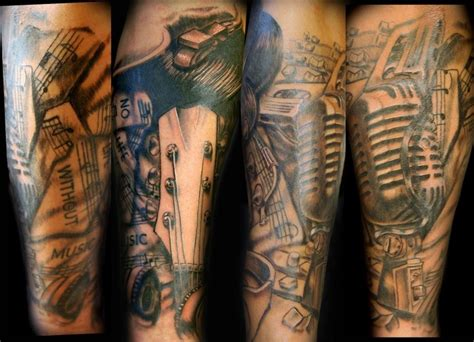 music tattoo sleeve 16 best images about ideas on cool