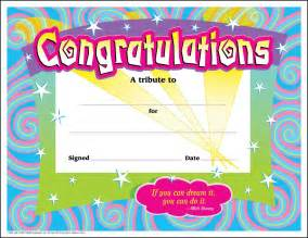 Congratulations Template by 30 Congratulations Award Large Swirl Certificate Award