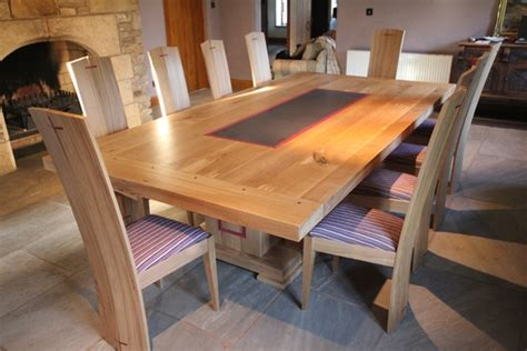 Bespoke Dining Tables And Chairs Oak Dining Table And Chairs Bespoke Luxury Furnitu With Oak Table And Chair Sets