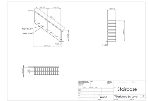 how to draw a boat in cad a simple cad drawing for a staircase frame for an