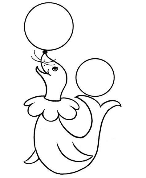 coloring pages pre k pre k coloring pages circus seal appliqu 233 s pinterest