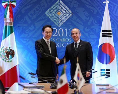 mexico corea korean and mexican presidents pledge to reinforce