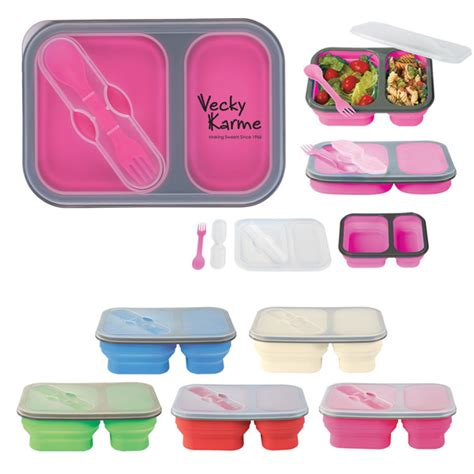 multi section food containers folding dual utensil food container custom logo 4allpromos