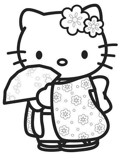 hello kitty kimono coloring page best 25 hello kitty pictures ideas on pinterest hello