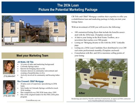 Picture The Potential 203k Package Loan Package Template