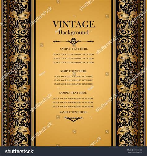 vintage background antique gold stock