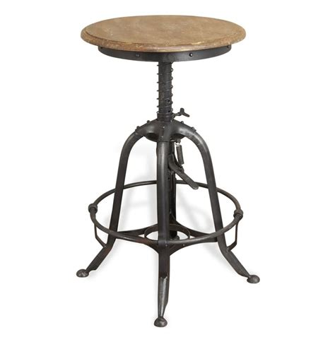 Metal And Wood Stools by Novara Industrial Limewash Wooden Metal Rustic Bar And
