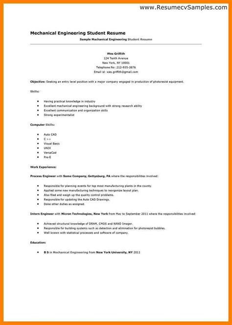 resume template for a resume exles for for students exles of resumes