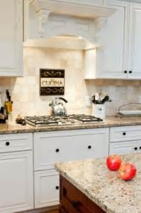 Kitchen Backsplash Ideas With Cream Cabinets Cream Cabinets With New Venetian Gold Granite And Tumbled