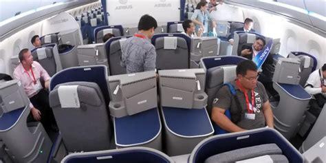 cara naik pesawat kelas bisnis melihat ke dalam quot test aircraft quot airbus a350 xwb aviatren