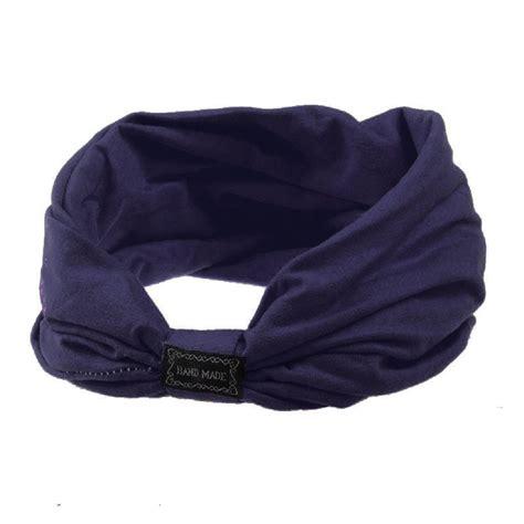 Wide Knit Hair Band dzt1968 tm cotton wide knit turban