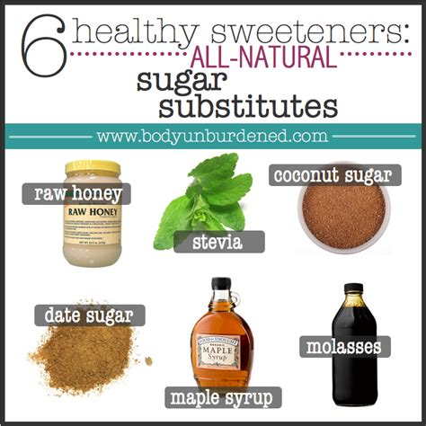 6 healthy sweeteners all natural sugar substitutes body unburdened