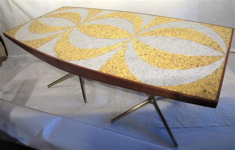 mosaic dining room table mosaic dining table with mahogany and bronze bases circa