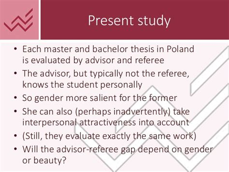 bachelor thesis advisor do gender and beauty affect assessment of academic