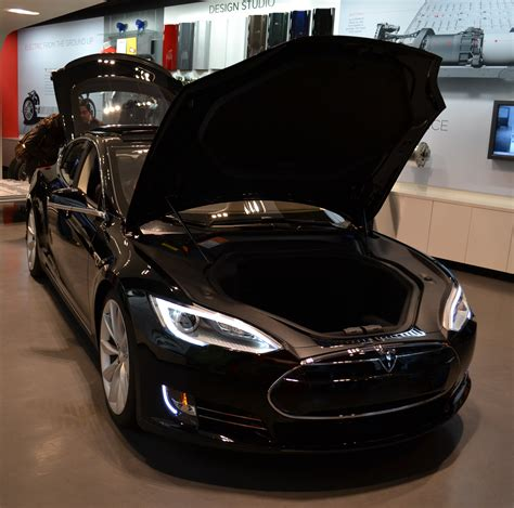 tesla electric car life with tesla model s battery safety shield in detail