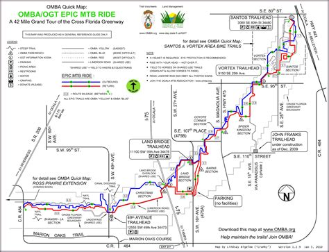 florida trail map nor easter backcountry santos trails and the endless