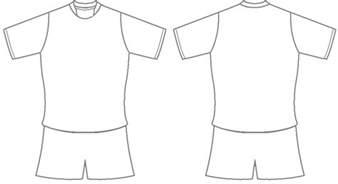 Football Shirt Outline by Football Shirt Template Clipart Best