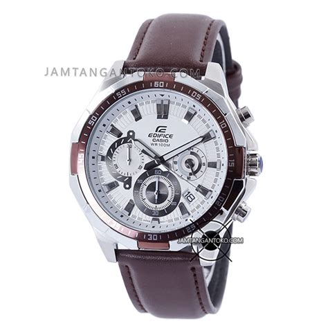 Edifice 539 Kulit harga sarap jam tangan edifice kulit efr 554l 7av coklat plat putih