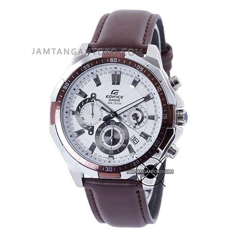 Casio Edifice 539 Sc 2 Warna harga sarap jam tangan edifice kulit efr 554l 7av coklat plat putih