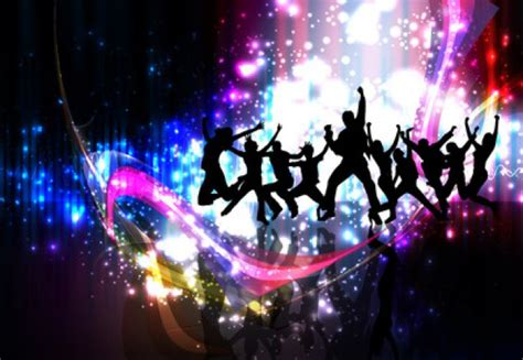 disco party with people dancing vector free download