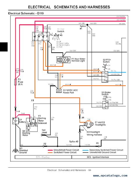 g110 deere wiring diagram wiring diagram schemes