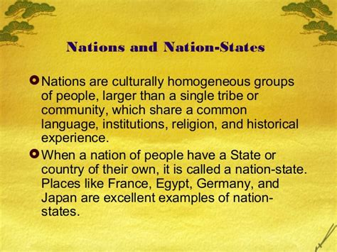 Nation State Examples