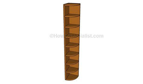corner shelf plans howtospecialist how to build step