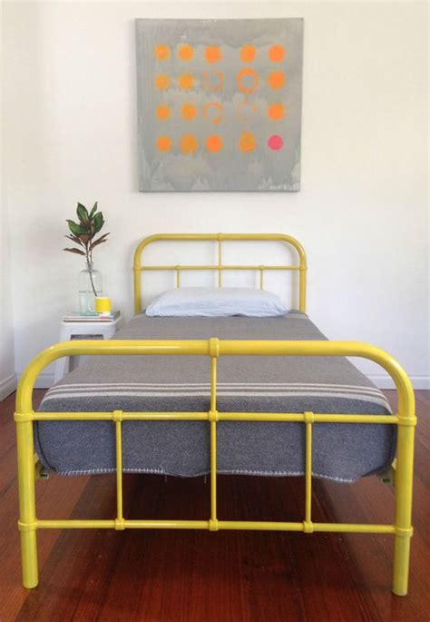 kid bed frames industrial metal single kids bed frame retro vintage
