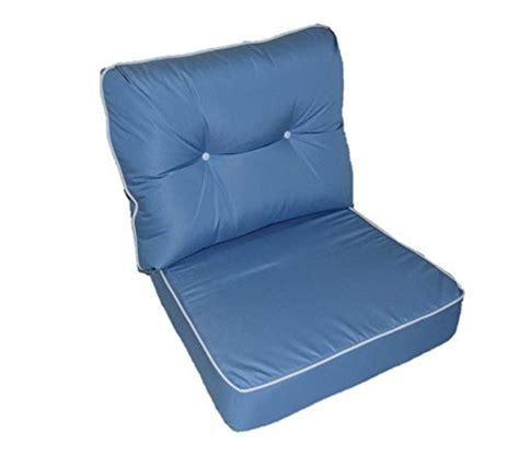 Outdoor Furniture Cushions 24 X 27 Sunbrella Canvas Air Blue W White Pipping Cording