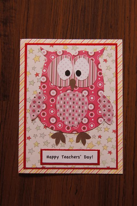 Handmade Teachers Day Cards - teachers day card notes of